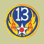 13th Army Air Forces WW2 Patch